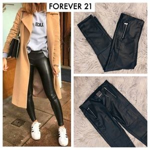 NWT Forever 21 Faux Leather Skinny Pants